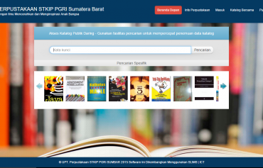 Sistem Informasi perpustakaan stkip pgri sumatera barat