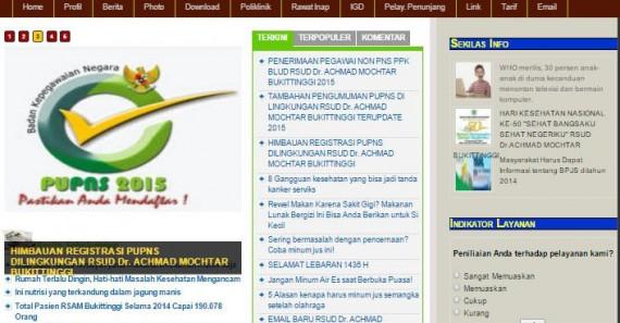 Website Pemerintah Rumah Sakit Dr. Achmad Mochtar